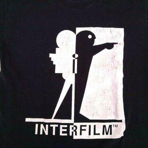 Vintage Interfilm Black T-Shirt Don't Just Sit XL